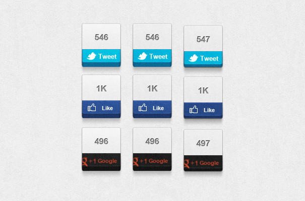 preview Social Network chunky Buttons Кнопки социальных сетей. PSD