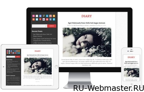Diary WordPress theme 13 шаблонов Wordpress от компании mythemeshop.com